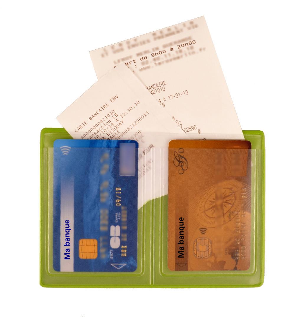 Ref. 1606 - Etui 2 cartes avec poche facturette