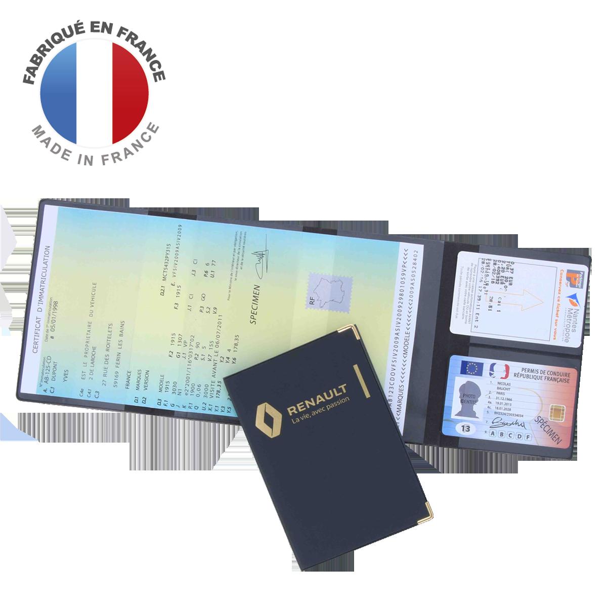 Ref. 1143 - Porte carte grise + 2 cartes essence
