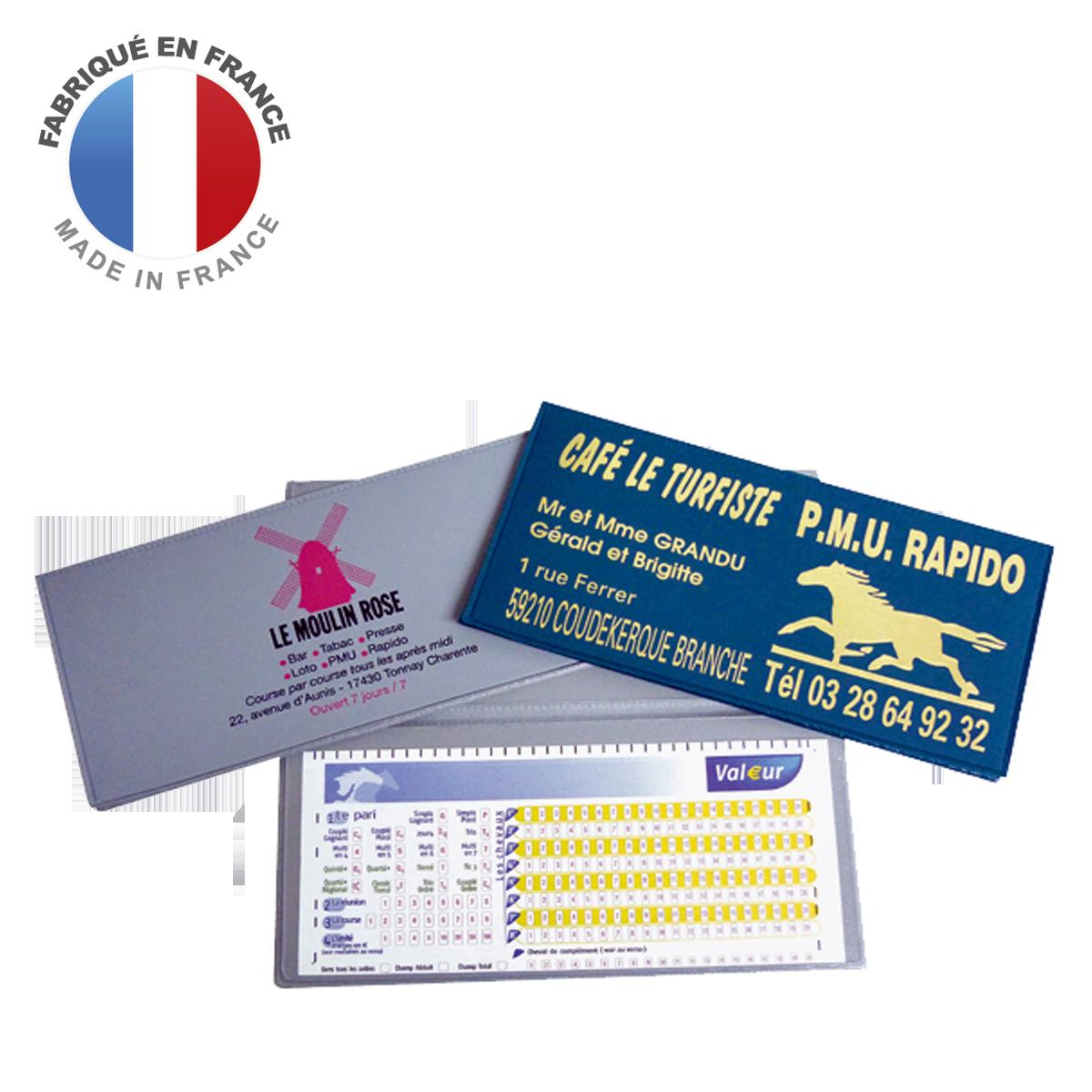 Ref. 1202 - Pochette PMU 2 volets - 2 grandes poches