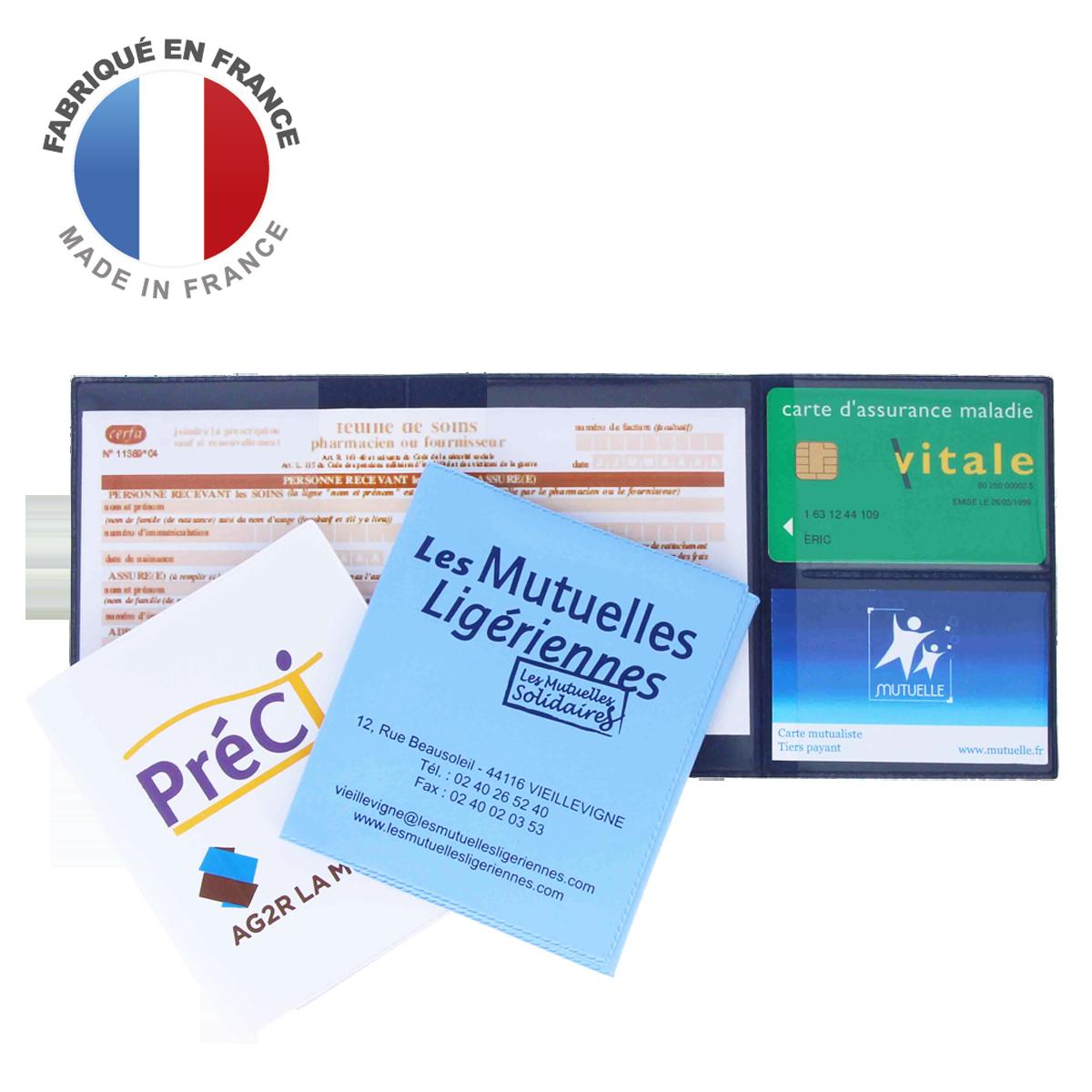 Ref. 1306 - Porte carte Sécurité Sociale SS - 2 cartes Vitale