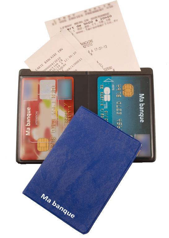 Ref. 1605 - Etui 2 cartes avec poche facturette