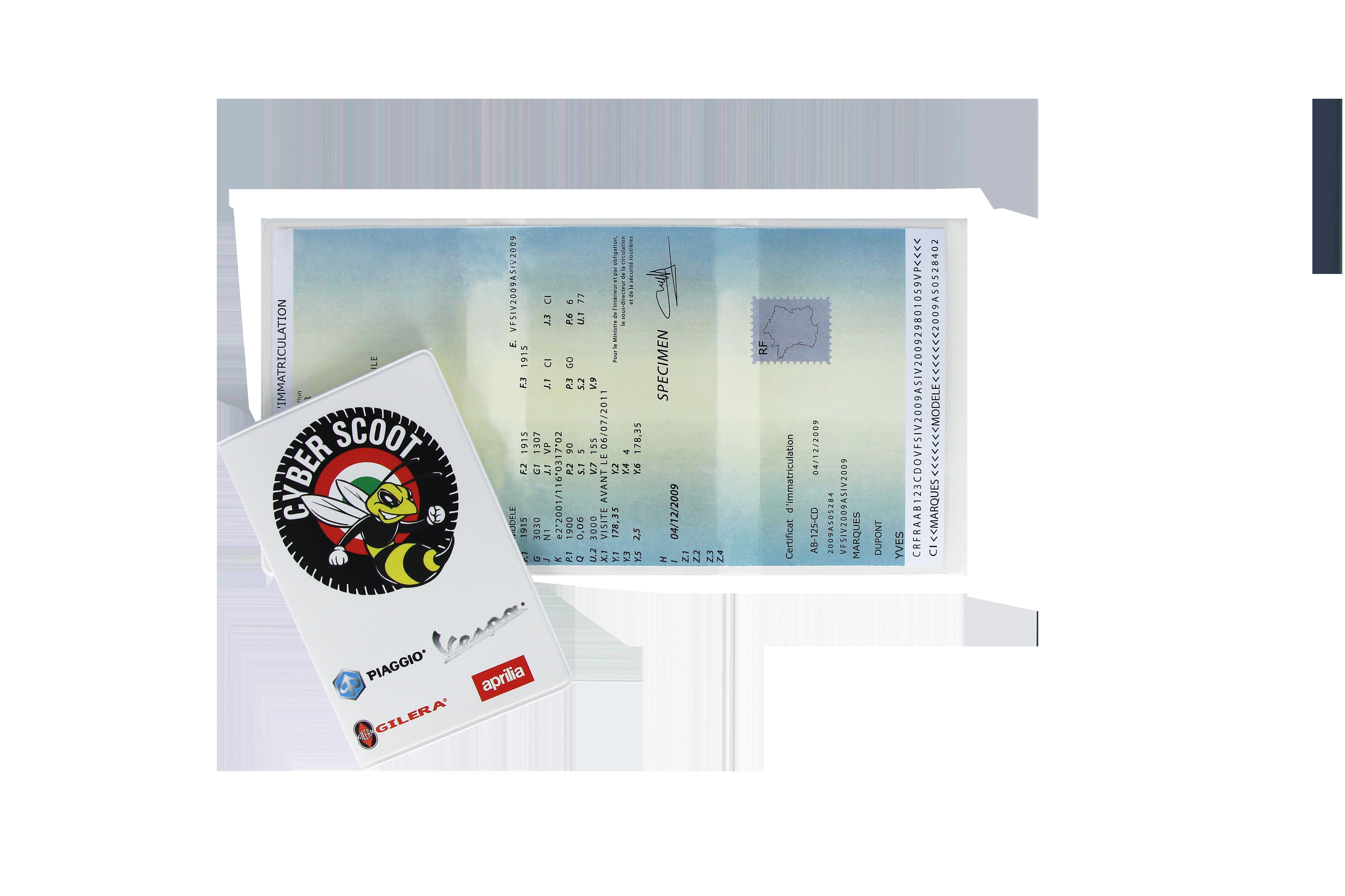 Ref. 1128 NUM - Porte carte grise - Impression numérique