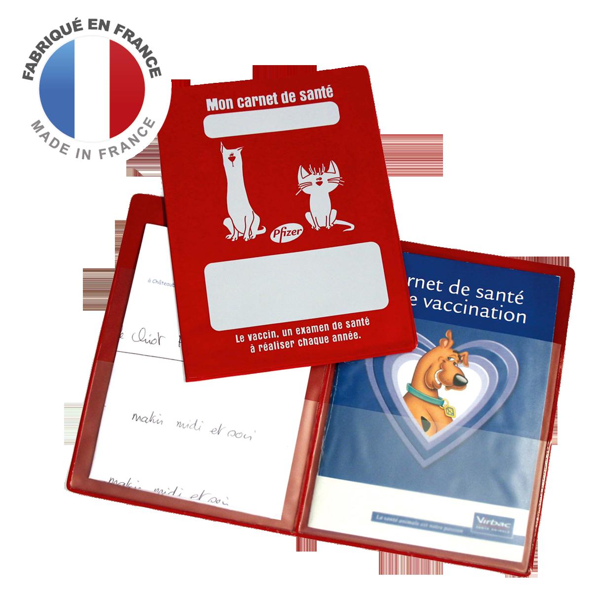 Ref. 1307 - Pochette carnet de santé animaux