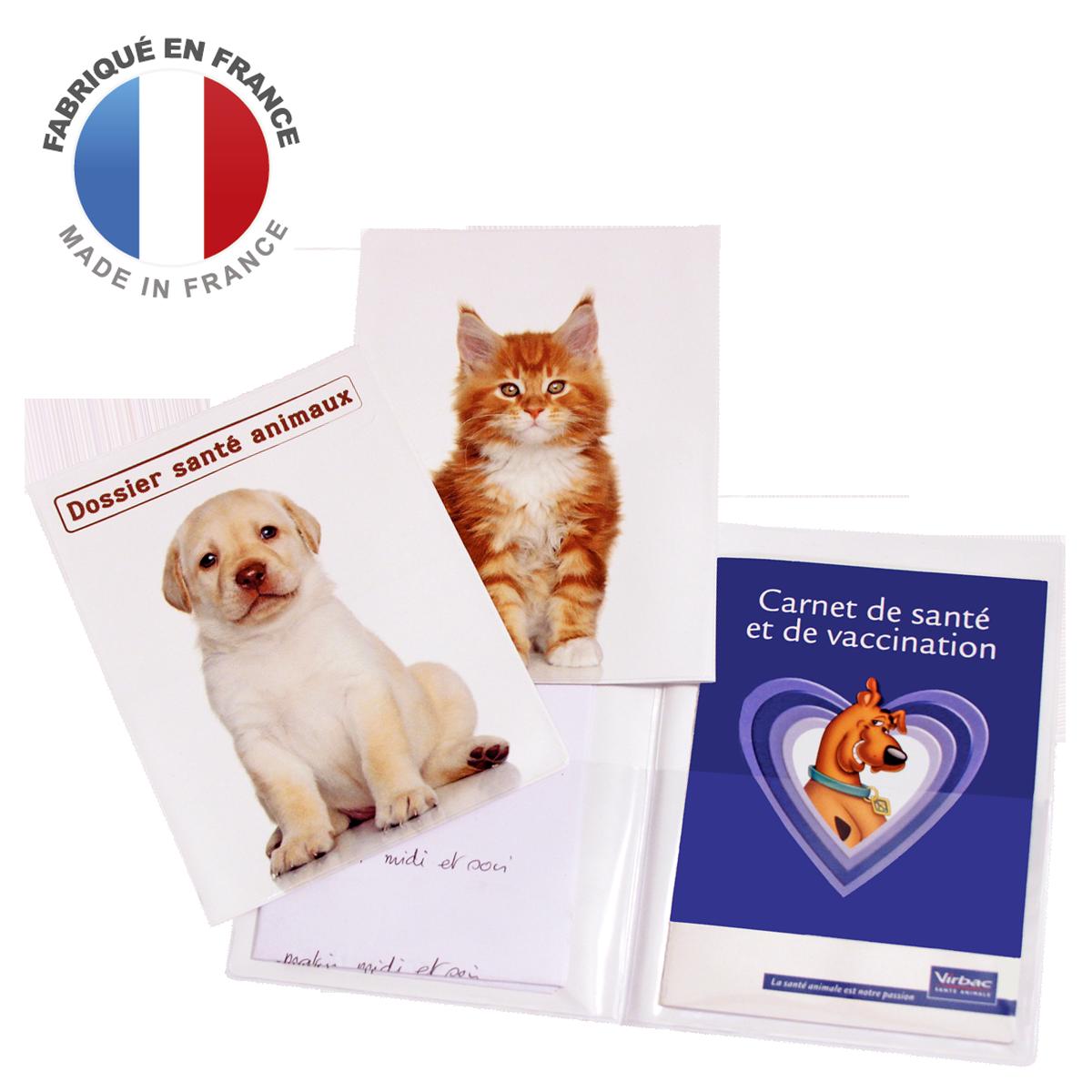 Ref. 1307 - Pochette carnet de santé animaux - Impression numérique